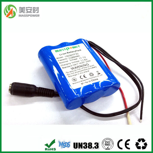 Hot Sales 12V 2200mAh Lithium Ion Battery Pack