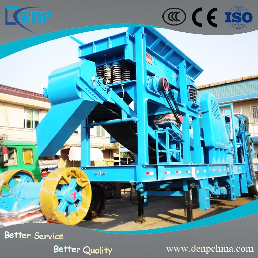 Portable Crusher Rubber-Tyred Crawler Truck Mobile Crushing Plant