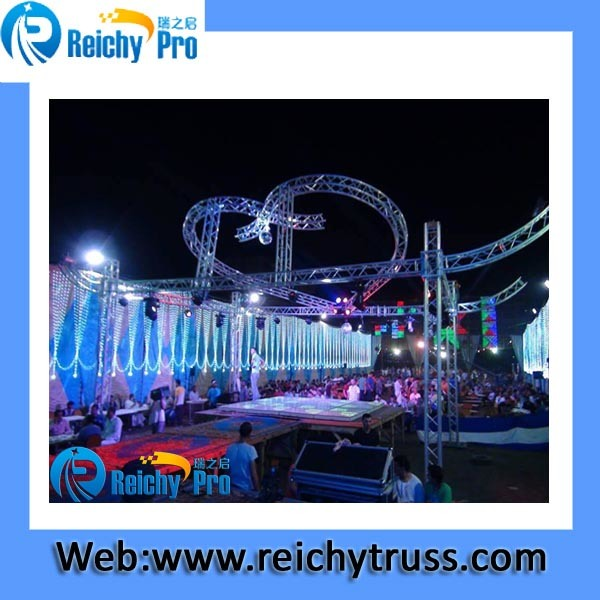 Outdoor Stage Shape Truss Aluminum Outdoor Truss