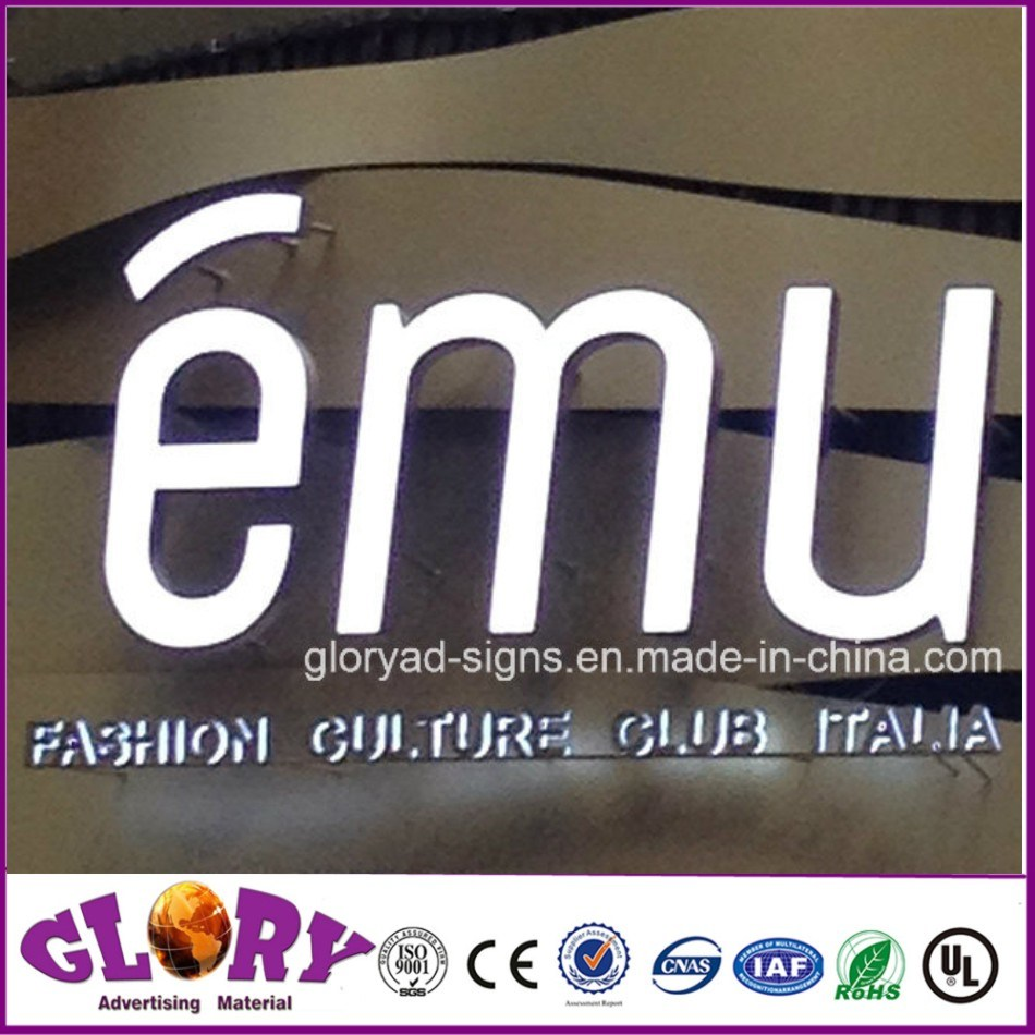 Shop Sign Epoxy Resin LED Channel Letter and LED Sign