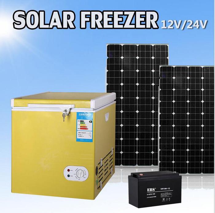 12V Mini Portable Solar Chest Deep Freezer for Caravan, Car