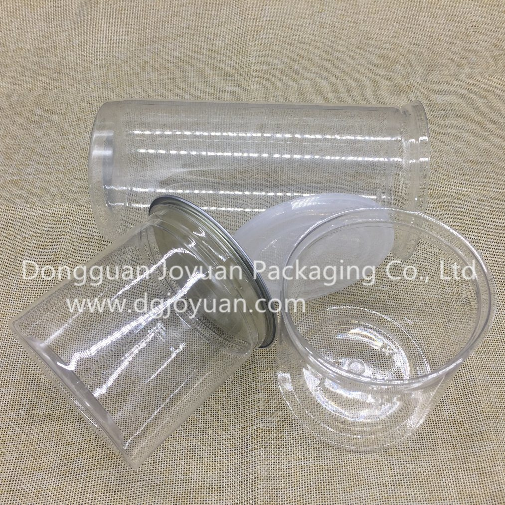 Plastic Pet Can Food Container with Easy Open End