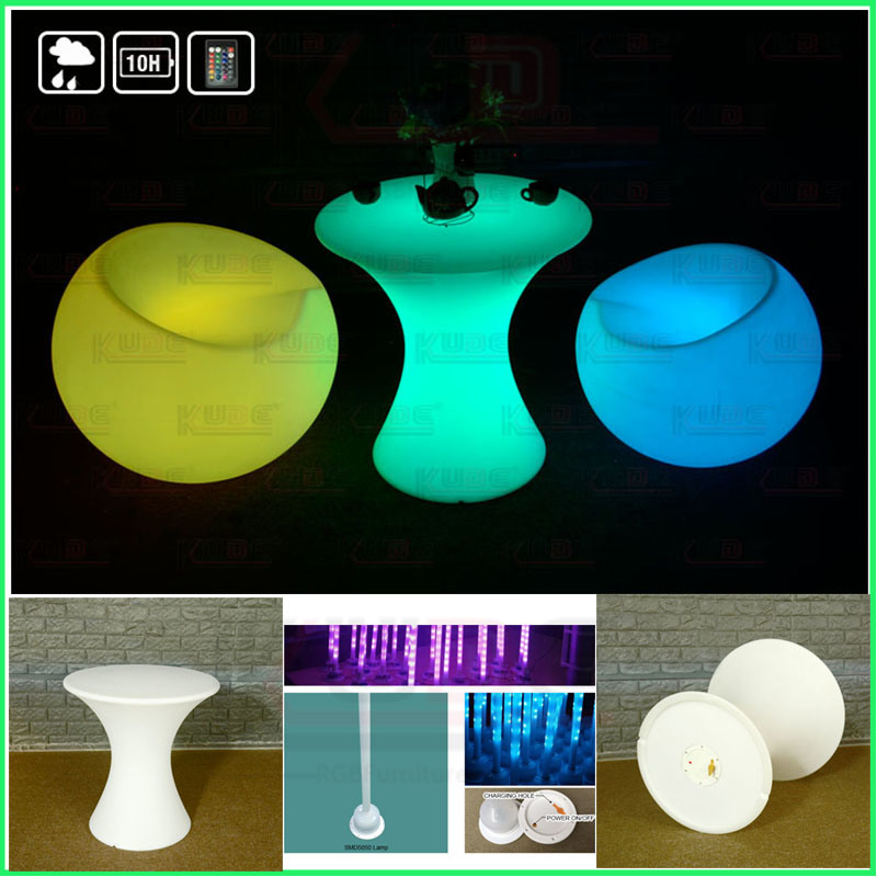 Glowing LED Cocktail Table Light up Furniture