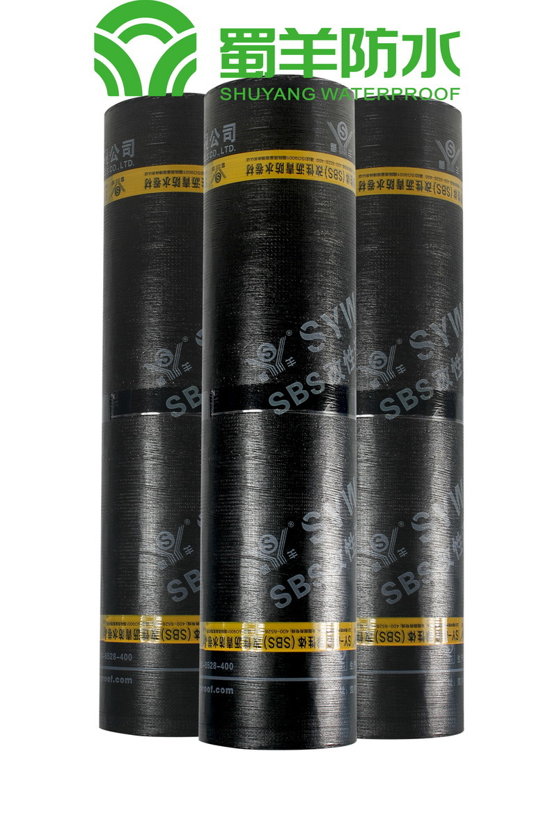 4mm SBS Waterproof Membrane PE Film Surface PY Reinforced