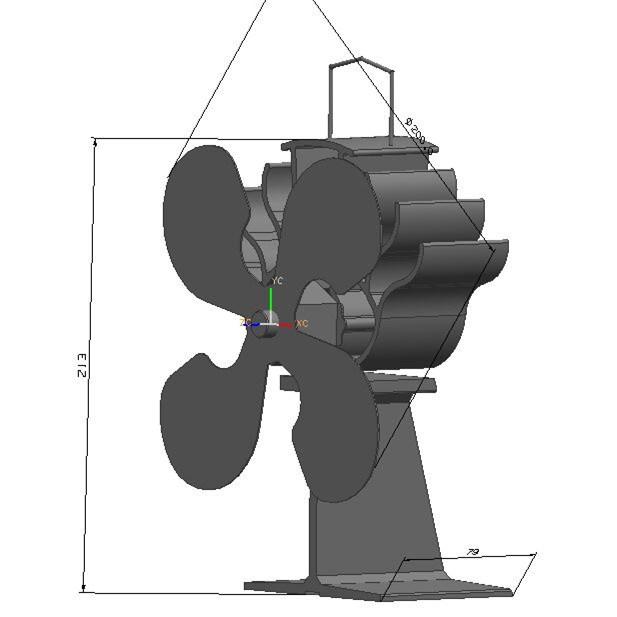 Intelligent Design Ecofan Stove Fan