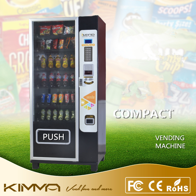 Glass Front Compact Vending Machine Config Nayax Vpos Support Card NFC Digital Pay