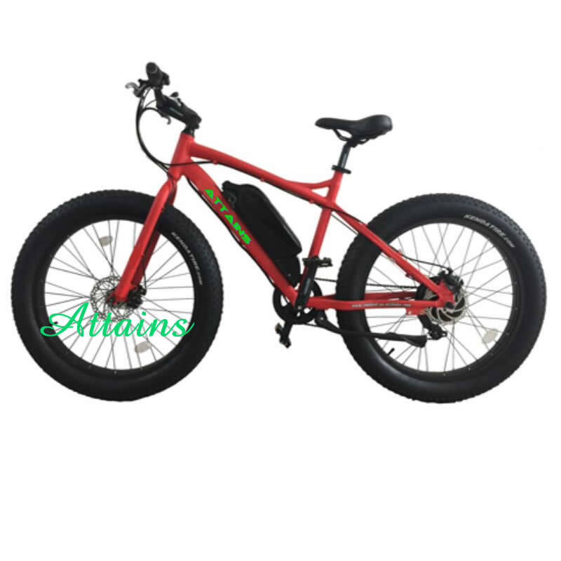 Hot Sale 26inch Powerful Motor Mountain Fat Tire Electric Bike