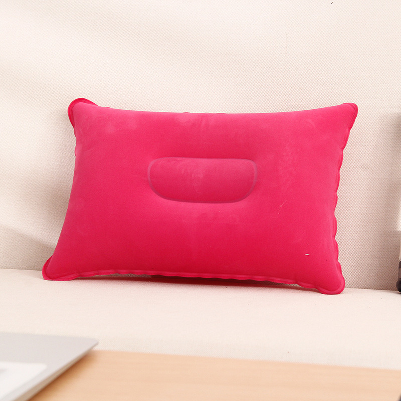 Super-Thick Flocking Fabric Inflatable Pillow Portable Travel Pillow