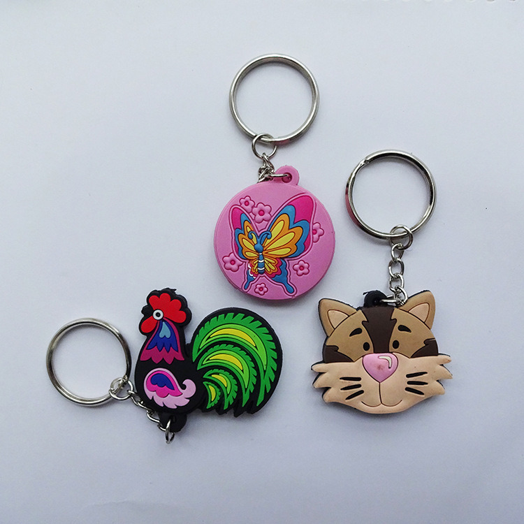 Promotion Custom Soft PVC Keychain with Logo Printing