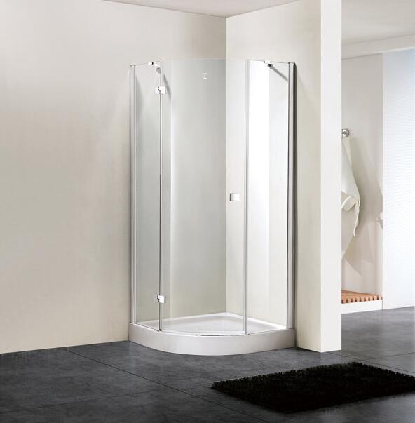 Shower Enclosure 8mm Glass Quadrant Hinge Door Bathroom (BN-HDSQD90)