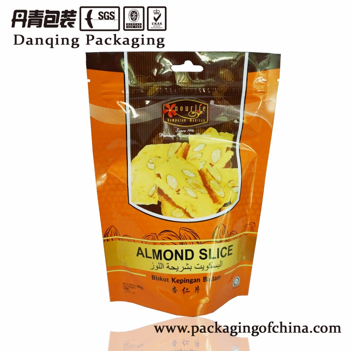 Food Plastic Packaging Pouch with Top Zipper