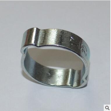 Zinc Plated Steel 2-Ear Clip Double Ear Hose Clamp