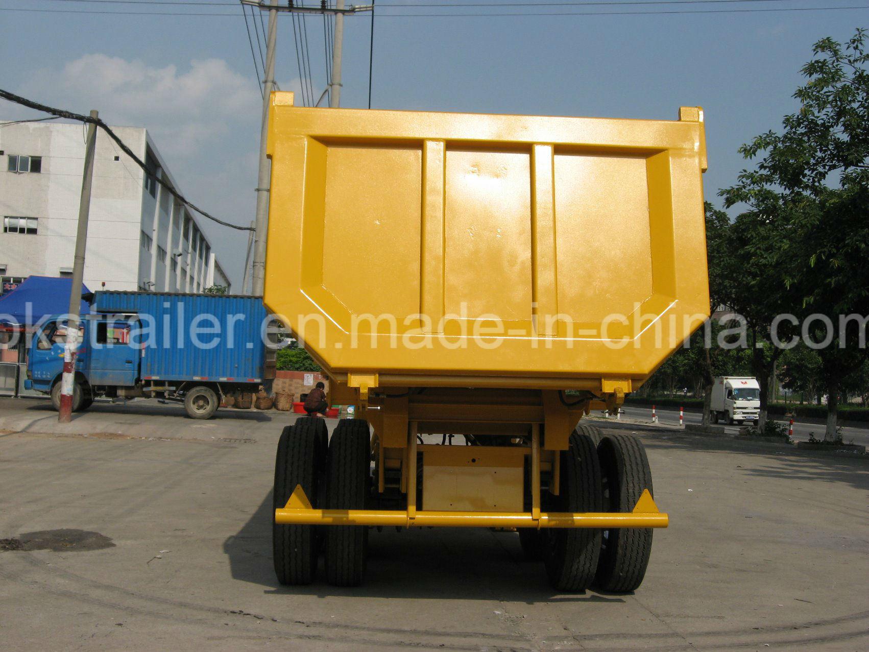 2axle Tipper Semi-Trailer 20 -22 Cbm U-Style