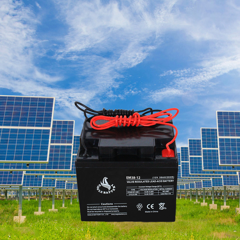 12V 38ah Rechargeable Lead Acid Battery for Solar System