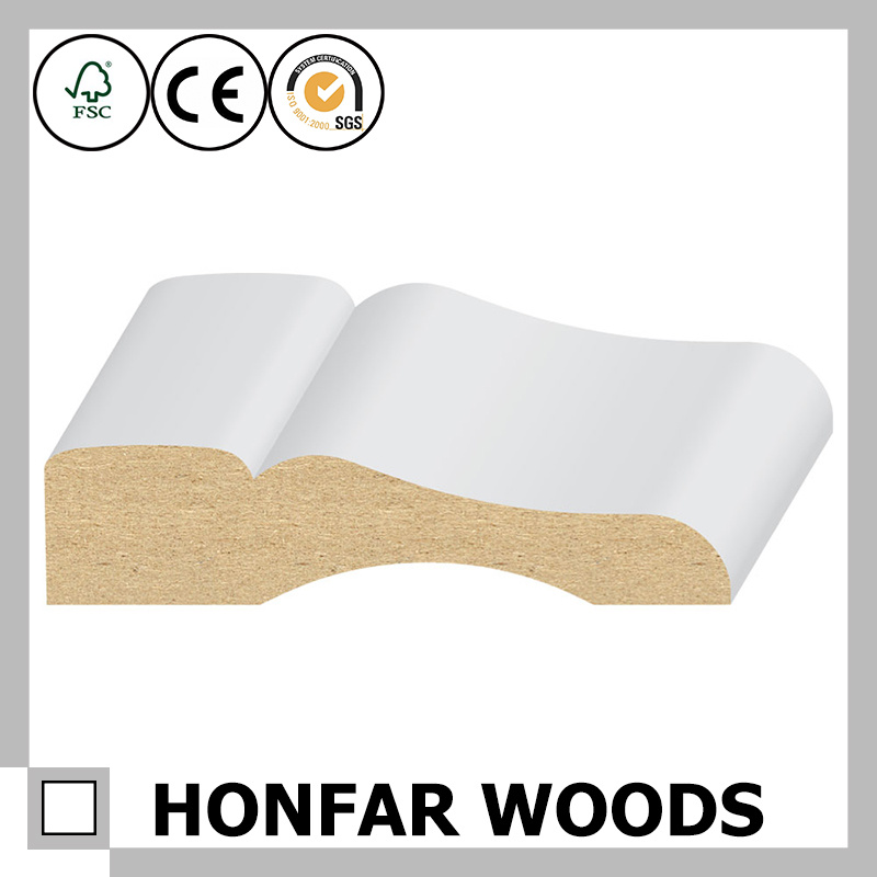 White Primed MDF Moulding for USA and Europe