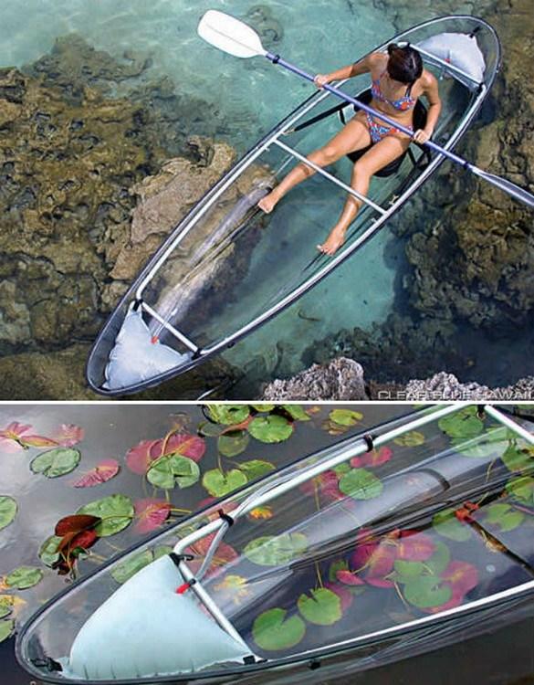 Winner Sit on Top 100% Transparent PC Kayak Canoe