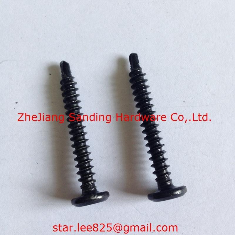 Pan Head Harden Black Zinc Plated Self Drilling Screw