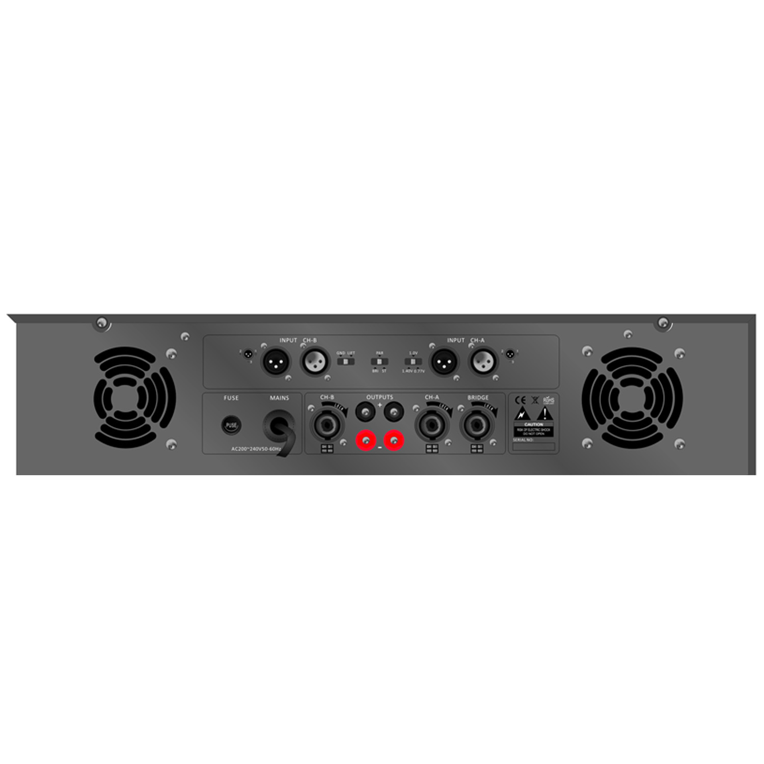 Public Address Professional Power Amplifier S-2200 Series