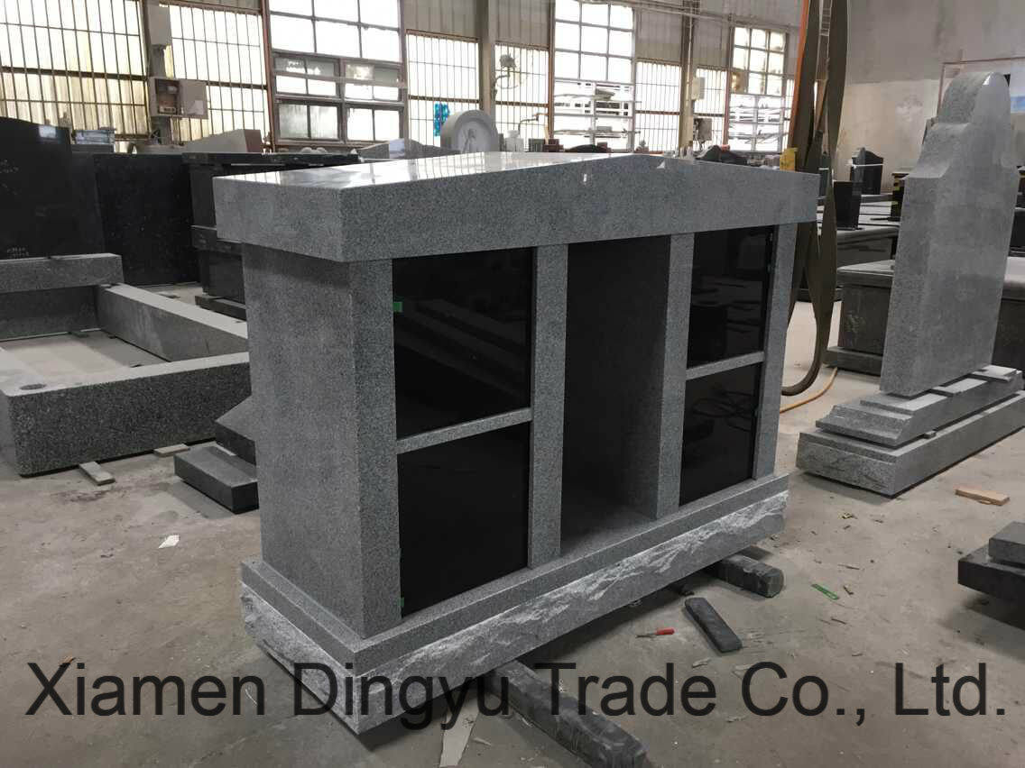 G603 Grey & Shanxi Black Door Granite Columbarium for Cemetery