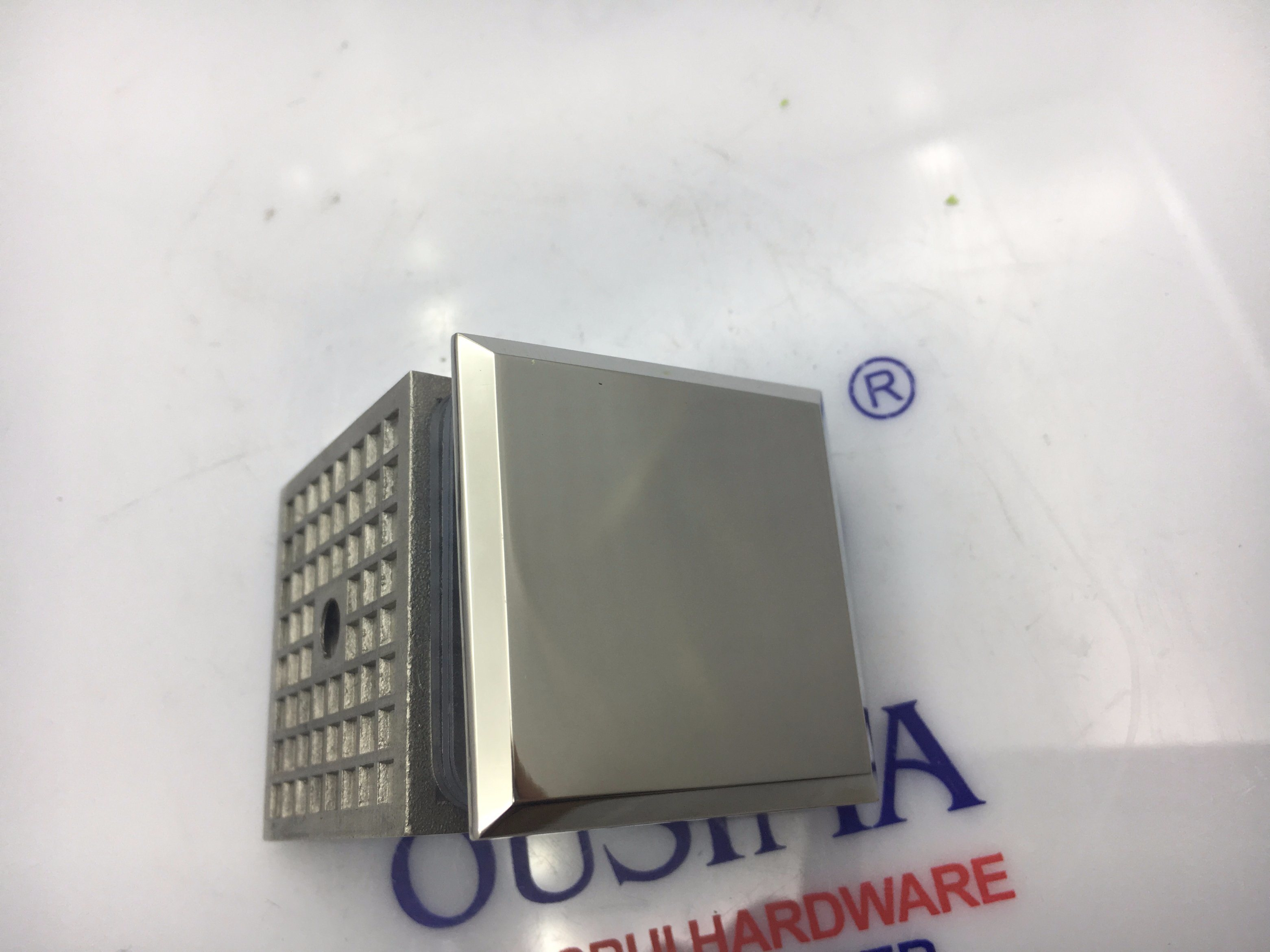 0 Degree Die Casting Square Shower Room Glass Fixed Clamp (CR-G01)