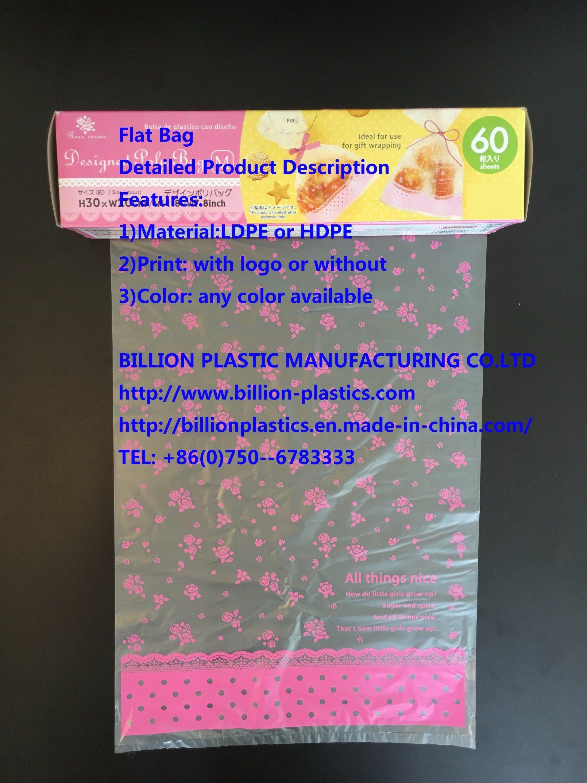 Translucent Bag Poly Bag Flat Bag Garbage Bag Rubbish Bag T-Shirt Bag Carrier Bag Shopping Bag Polybag Gusset Bag