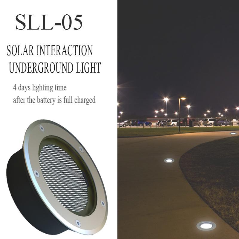 LED Solar Interaction Underground Light