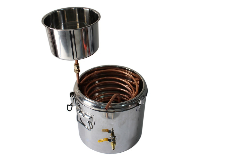 Kingsunshine 30L/8gal Stainless Steel Beer Barrel Kits, Household Beer Fermenting Distillation Equipment