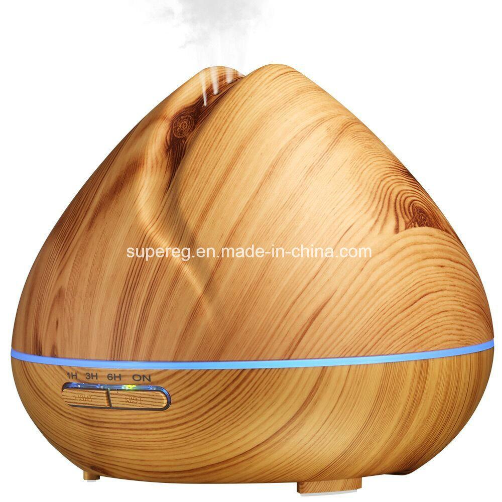 400ml Aromatherapy Essential Oil Diffuser Wood Grain