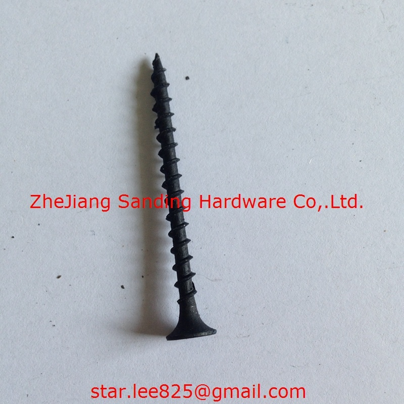 Plug Head Harden Black Phosphorus Drywall Screw