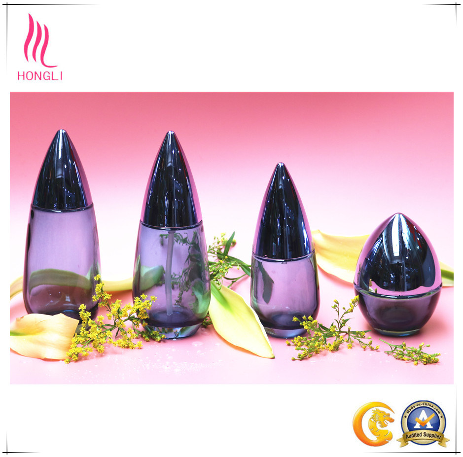Glass Bottle Aluminum Cover Cosmetic