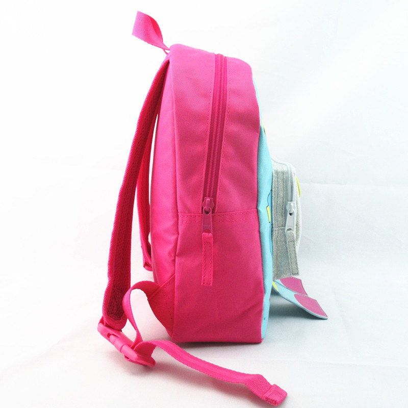Girls Pink Robot Novelty Polyester Backpack