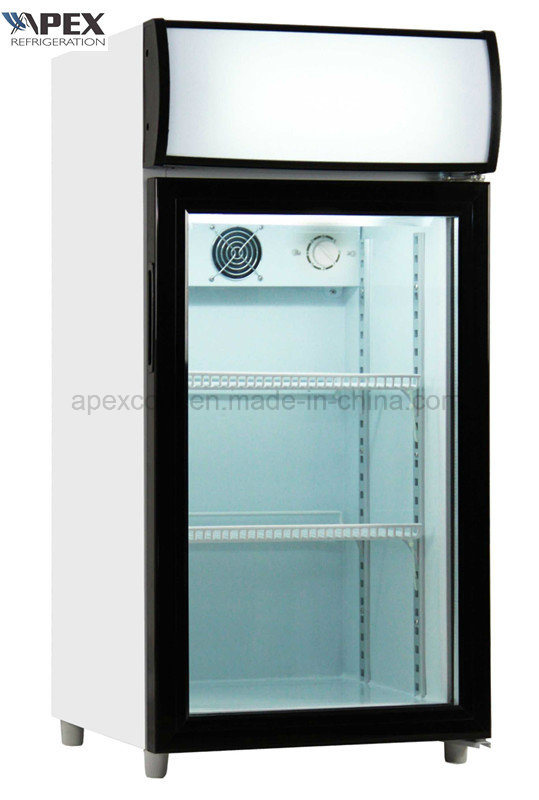 80L Counter Top Display Cooler for Beverage Cooler, Mini Fridge with Ce, CB, RoHS, ETL Certificate