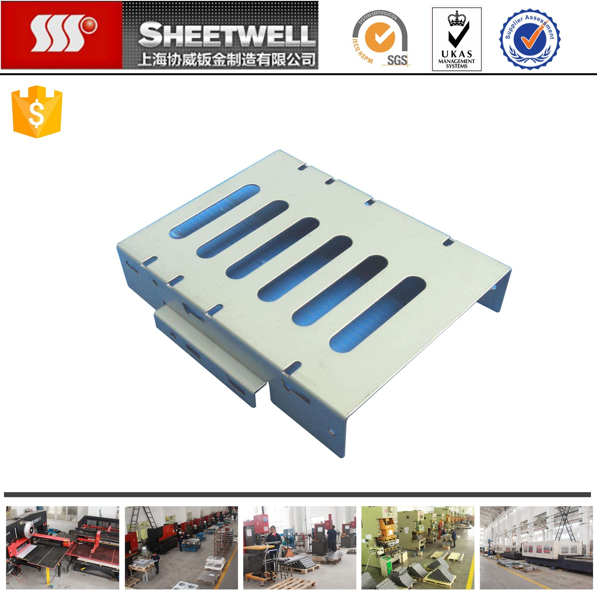 OEM ISO Sheet Metal Punching Machine Custom Fabrication Metal Parts
