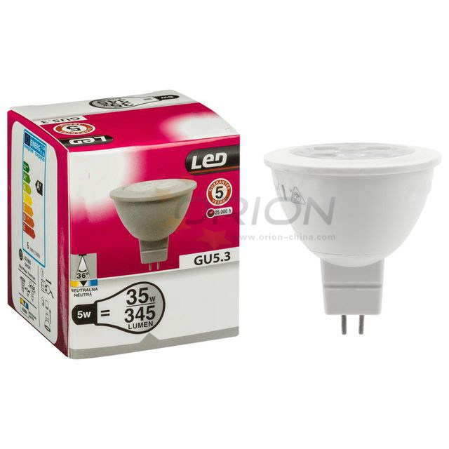 LED Bulb Lamp 5W MR16 GU10 Energy Saving LED Spotlight