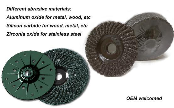 Plastic Backing Grinding Disc Wheel for Concrete, etc
