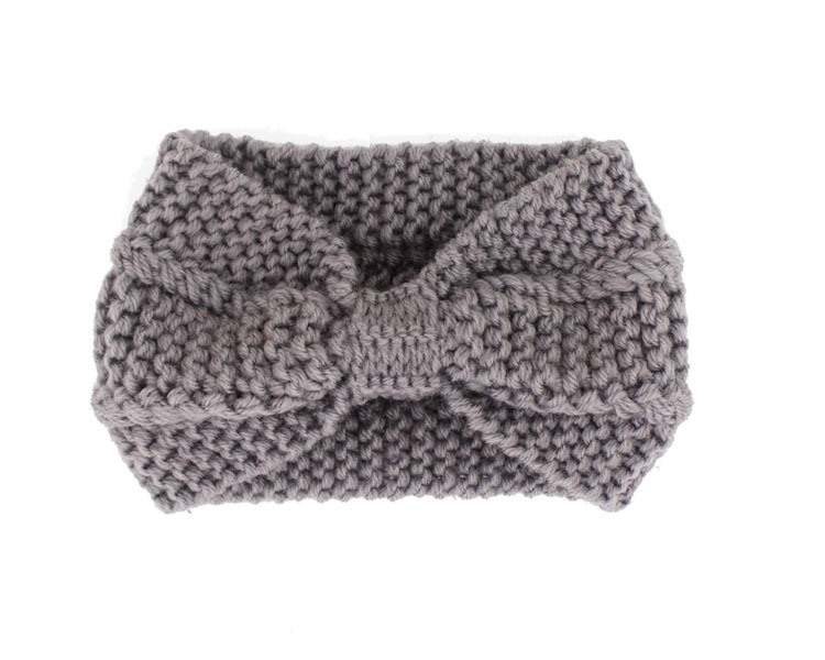 Winter Women Lady Ear Warmer Crochet Bowknot Turban Knitted Head Wrap Hairband Headband Headwear Hair Band Accessories