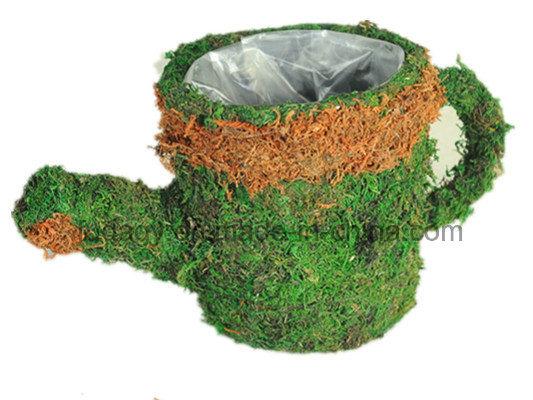Cup Shape & Moss Made Garden Pot