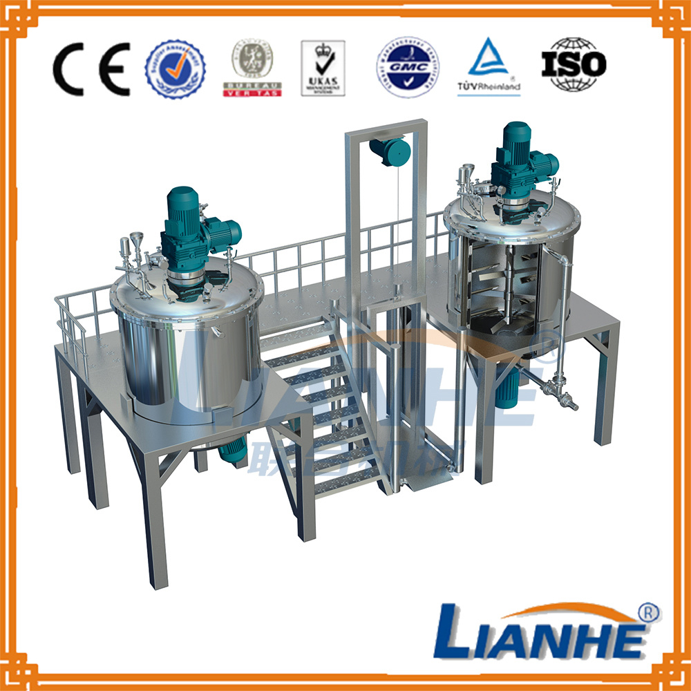 Stainless Steel Shampoo Mixing Blending Tank Blending Machine