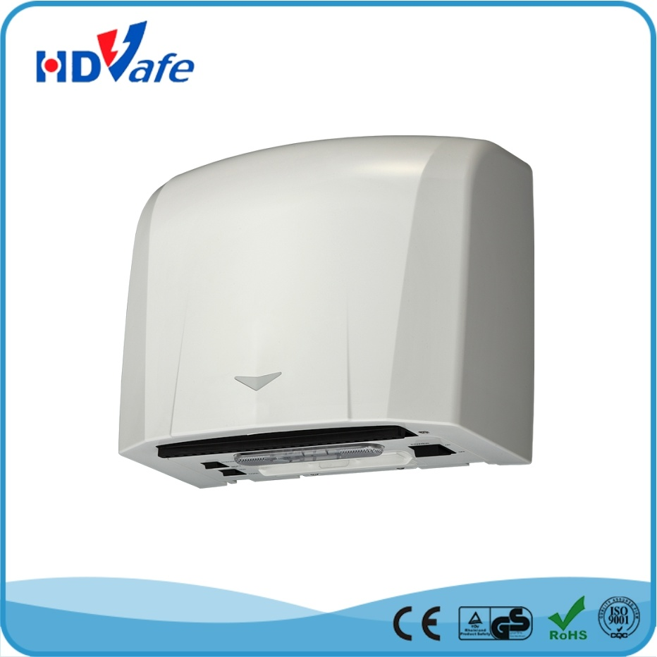 Ce RoHS Cheap HEPA 220V 110V White Fast Dry Bathroom Automatic Electric ABS Hand Dryer