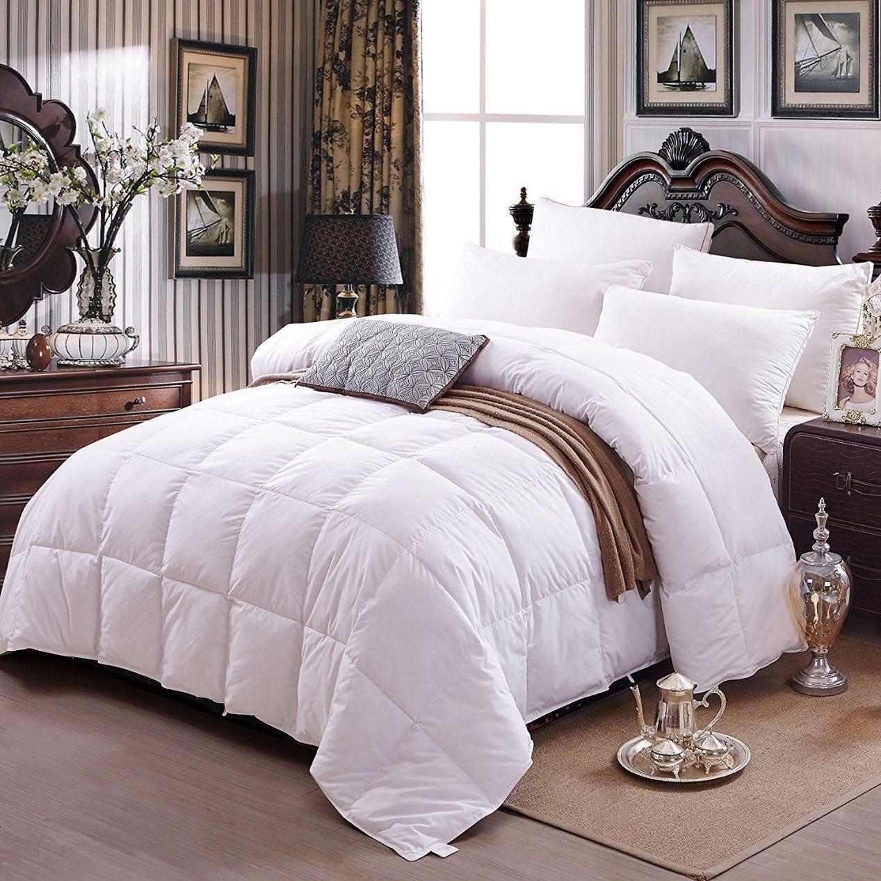 Home Textile 233tc 75% White Duck Down Bedding Comforter