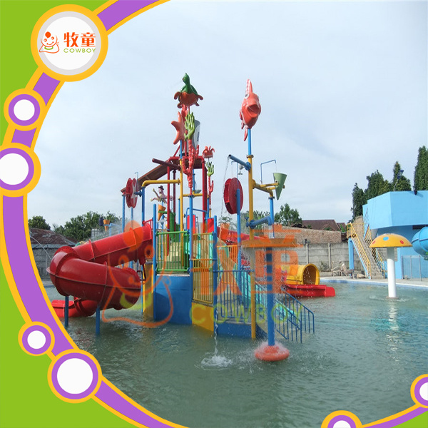 Theme Park Equipment Bounce House Water Play House for Kids
