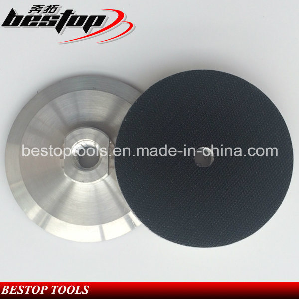 "4"" 100mm 5/8""-11 Threaded Aluminum Based Backer Pad"
