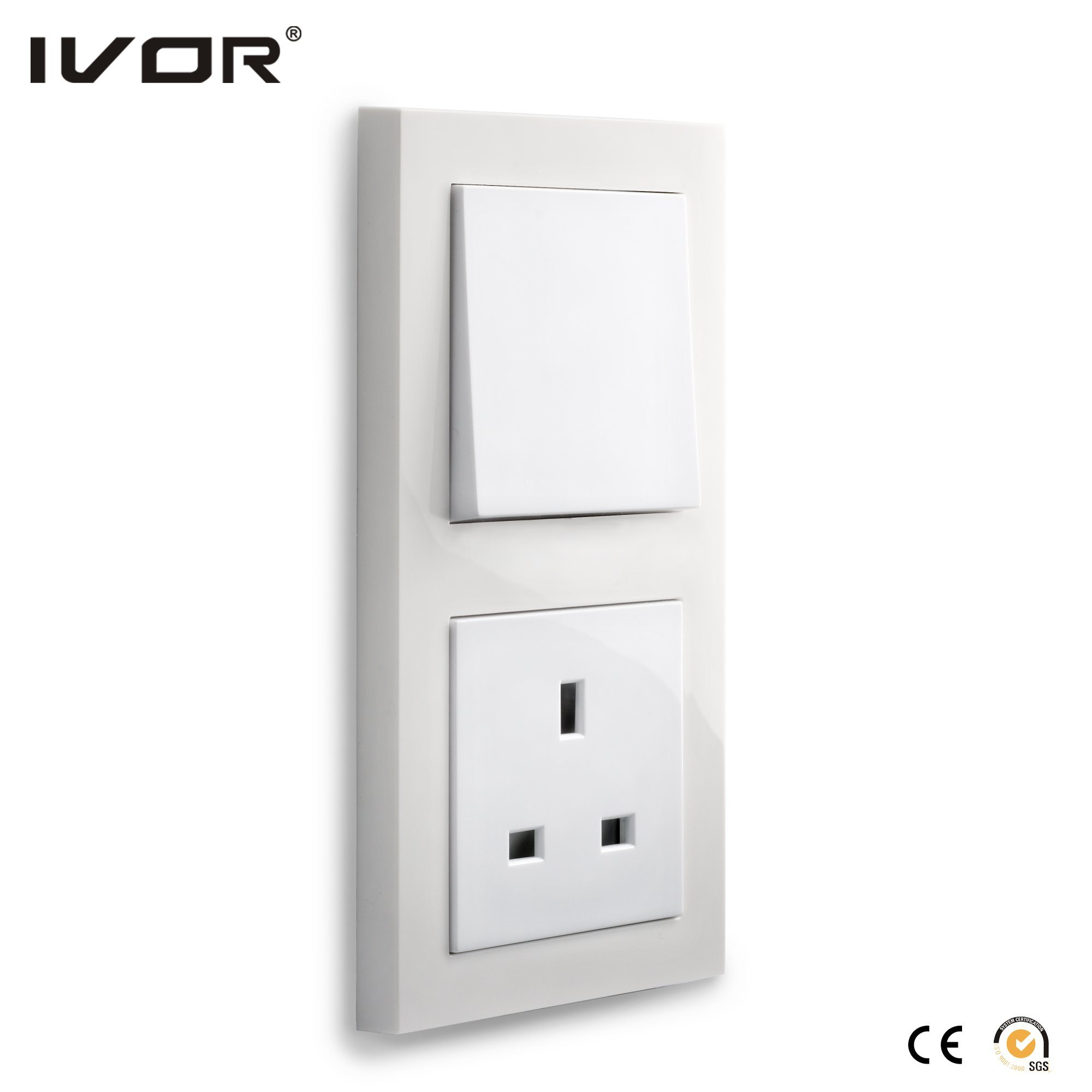 Mechanical Switch and Socket in Connect Version Plastic Outline Frame
