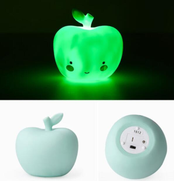 LED Adorable Smile Apple Nightlight for Baby Play