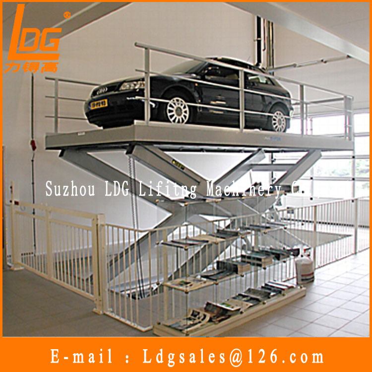 Stationary Hydraulic Scissor Car Lift (SJG2-3.3)
