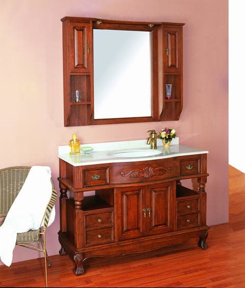 China Solid Wood Bathroom Vanity Cw861cs China Bathroom Furniture Bathroom Cabinet
