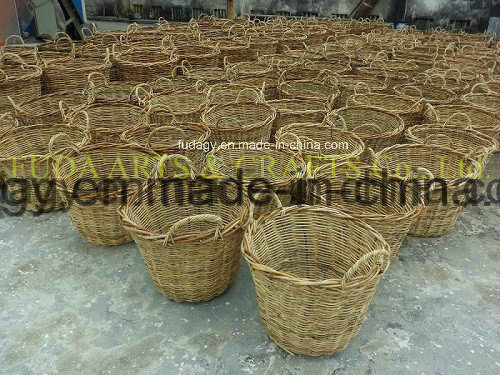 Natural Handmade Flat Rattan Garden Decoration