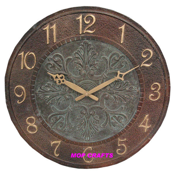 Polyresin Wall Clock, Resin Wall Clock, Garden Wall Clock