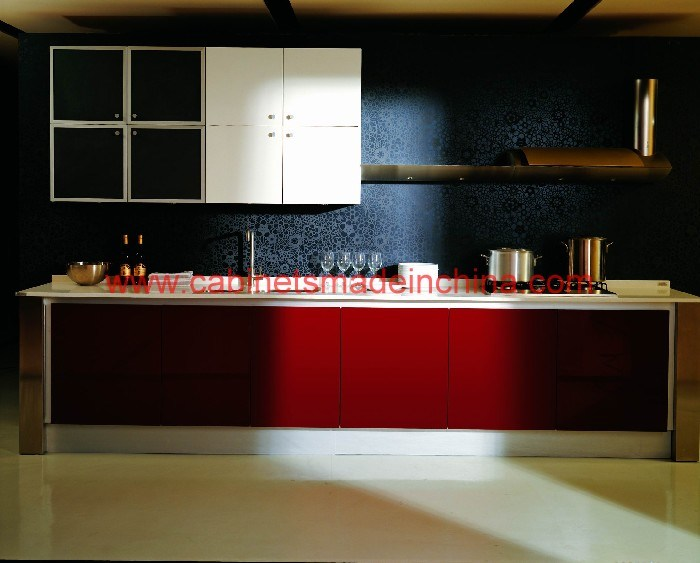 Kitchen Cabinets AB5001 China High Gloss Kitchen Cabinets Kitchen