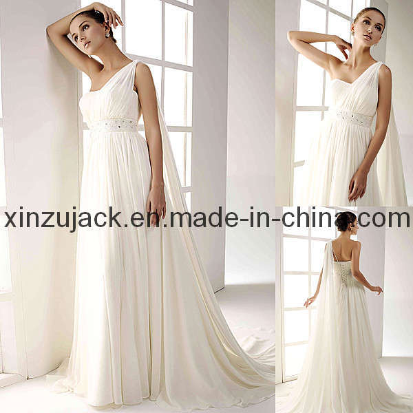 One Strap Wedding Dress Gown XZ391 Photos Pictures